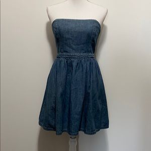 Urban Outfitters Strapless Denim Dress